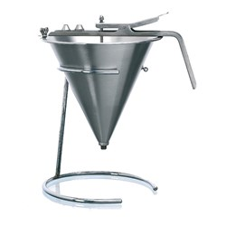 CONFECTIONERY FUNNEL S/S 185MM 1.9LT W/- 3 NOZZLES 4 6&8MM