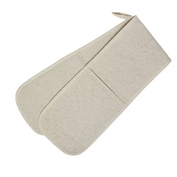OVEN MITT DBL POCKET 915MM H/DUTY COTTON (36)