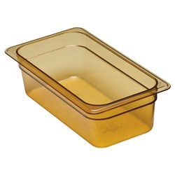 HIGH TEMP PAN 1/3 SIZE 3.6LT 100MM AMBER -40C TO 190C