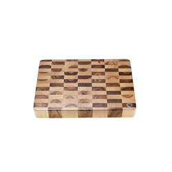 BOARD WOOD CHEQUERED END GRAIN 400X300MM (4)