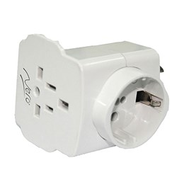 TRAVEL ADAPTOR UNIVERSAL WHT NERO (20/100)