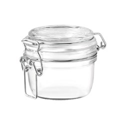 FIDO PRESERVING JAR 125ML CLIP SEAL GLASS (12)