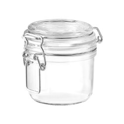 FIDO PRESERVING JAR 200ML W/- CLIP SEAL GLASS (12)
