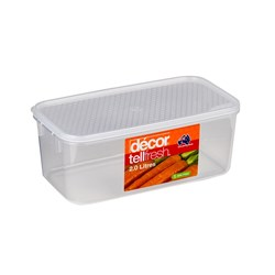 TELLFRESH OBLONG CONTAINER 2LT 239X128X95MM (4)