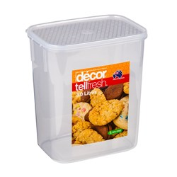 TELLFRESH OBLONG CONTAINER 3LT TALL 177X125X207MM PLASTIC (4)