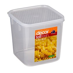 TELLFRESH SQ CONTAINER 1.75LT 140X140X140MM PLASTIC (6)