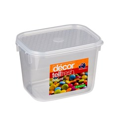 TELLFRESH OBLONG CONTAINER TALL 800ML135X100X97MM PLASTIC