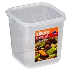 TELLFRESH SQ CONTAINER 1.125LT 120X120X120MM PLASTIC (4)