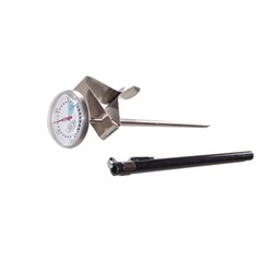 THERMOMETER COFFEE DIAL SML W/CLIP 30MM DIAL 140MM PROBE