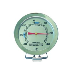 THERMOMETER FRIDGE FREEZER S/S 60MM DIAL