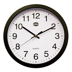 WALL CLOCK BLK 300MM