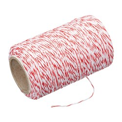 BUTCHERS TWINE RED/WHT 60MT/ROLL (6/96)
