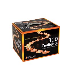 CANDLE TEALIGHT 4-5HR 300/PK