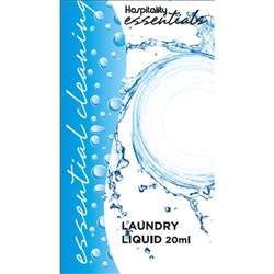 ESSENTIALS LAUNDRY LIQUID SACHET 20ML 275/CTN