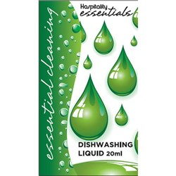 ESSENTIALS DISHWASH LIQUID SACHET 20ML 275/CTN