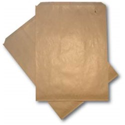 FLAT PAPER BAG BROWN NO.6 LONG 500/PKT 343X235MM (4)