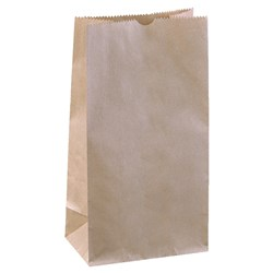 PAPER SOS BAG BROWN NO.4 500/PKT (4) 240X127X77MM