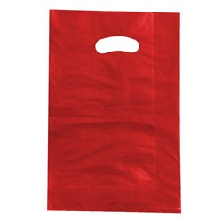 BOUTIQUE BAG SML RED 100/PKT (10) 360X255MM HDPE