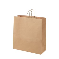 CARRY BAG PAPER BROWN GIANT TWIST HDL 480X450X180MM 125/CN