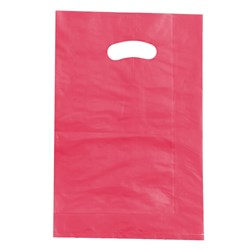 BOUTIQUE BAG LGE MAGENTA 100/PKT (5) 520X415X120MM HDPE