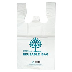 CARRY BAG MED REUSABLE PRINTED 500X250+120MM 1000/CTN