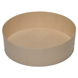 WOODEN VENEER BOX ROUND 155X45MM 300/CTN