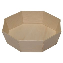WOODEN VENEER BOX OCTAGON 145X40MM 500/CTN