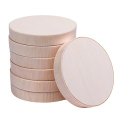 WOODEN LID SUIT 85MM ROUND WOODEN VENEER BOX 1000/CTN