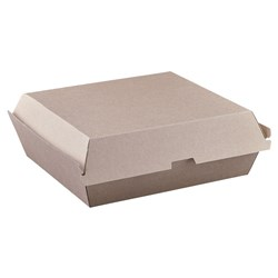 DINNER BOX ENDURA BROWN 178X160X80MM 150/CTN