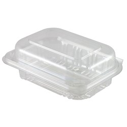 SALAD CONTAINER CLR PLASTIC 125/PKT (2) 170X123X63MM