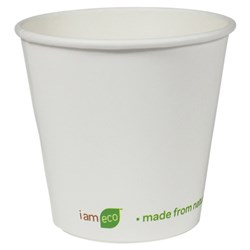 I AM ECO DOUBLE WALL CUP 240ML WHT 500/CTN 8OZ