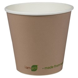 I AM ECO DOUBLE WALL CUP 240ML BROWN 500/CTN 8OZ