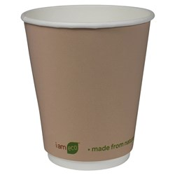 I AM ECO DOUBLE WALL CUP 355ML BROWN 500/CTN 12OZ