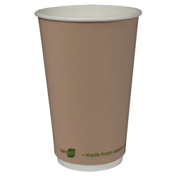 I AM ECO DOUBLE WALL CUP 473ML BROWN 500/CTN
