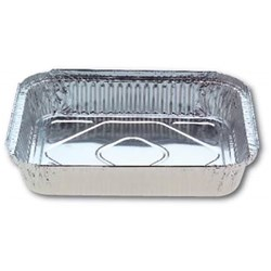 FOIL CATERING TRAY RECT 100/CTN 314X254X50MM 3300ML