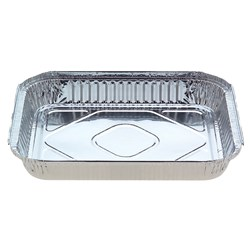 FOIL CATERING TRAY RECT 100/CTN 316X259X35MM 2500ML