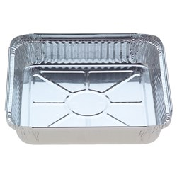 FOIL SQUARE MULTI-SERVE TRAY 200/CTN 228X228X36MM