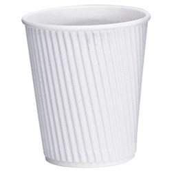 VEE INSULATED CUP 237ML WHITE 300/CTN