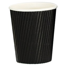 VEE INSULATED CUP 237ML BLK 300/CTN