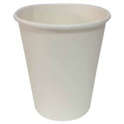 HOT CUP SMOOTH SINGLE WALL 237ML WHITE 1000/CTN 8OZ