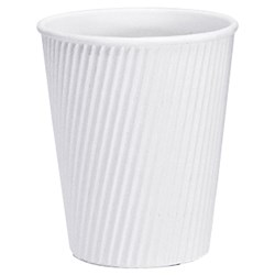 VEE INSULATED CUP 355ML WHITE 300/CTN