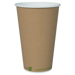 I AM ECO SINGLE WALL CUP 473ML BROWN 1000/CTN 16OZ