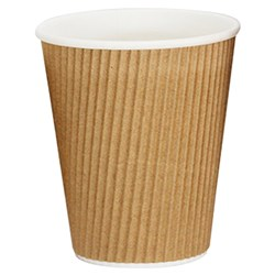 VEE INSULATED CUP 355ML BROWN 300/CTN