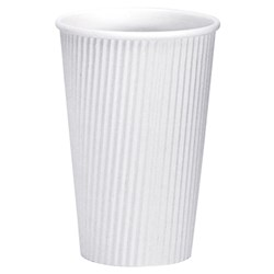 VEE INSULATED CUP 473ML WHITE 300/CTN