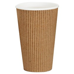VEE INSULATED CUP 473ML BROWN 300/CTN