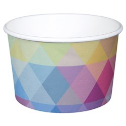 PAPER TUB / BOWL 473ML GLACIER 500/CTN 16OZ POLYCOATED