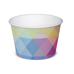 PAPER TUB / BOWL 236ML GLACIER 1000/CTN 8OZ POLYCOATED