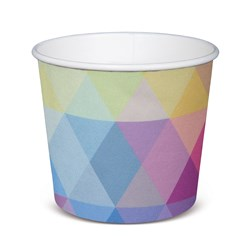 PAPER TUB / BOWL 708ML GLACIER 500/CTN 24OZ POLYCOATED