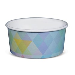 PAPER TUB / BOWL 355ML GLACIER 500/CTN 12OZ POLYCOATED