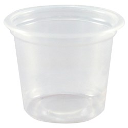 PORTION CUP 118ML 4OZ CLR P/PROP 125/PKT (20)